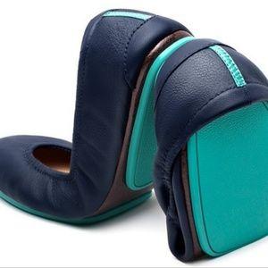 Tieks California Navy Leather Ballet Flats 8 $175